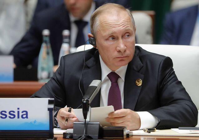 Ruský prezident Vladimir Putin během summitu BRICS