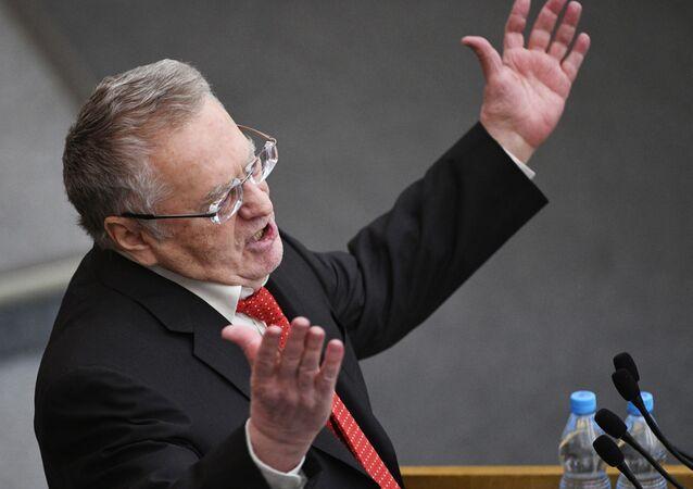 Vůdce Liberálně-demokratické strany Vladimir Žirinovskij