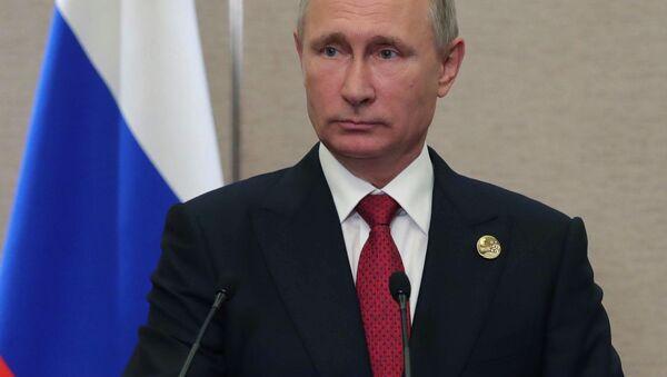 Ruský prezident Vladimir Putin na summitu BRICS - Sputnik Česká republika