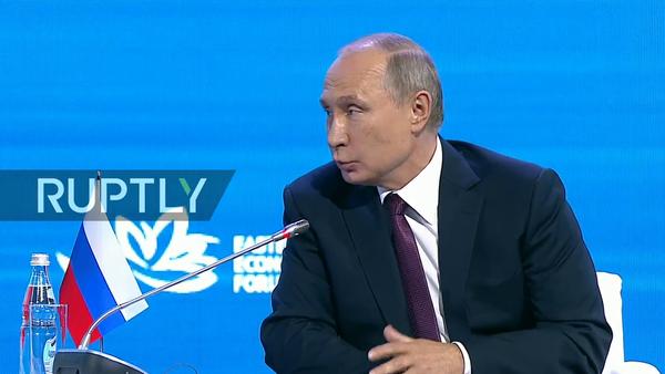 Putin na Východním ekonomickém fóru - Sputnik Česká republika