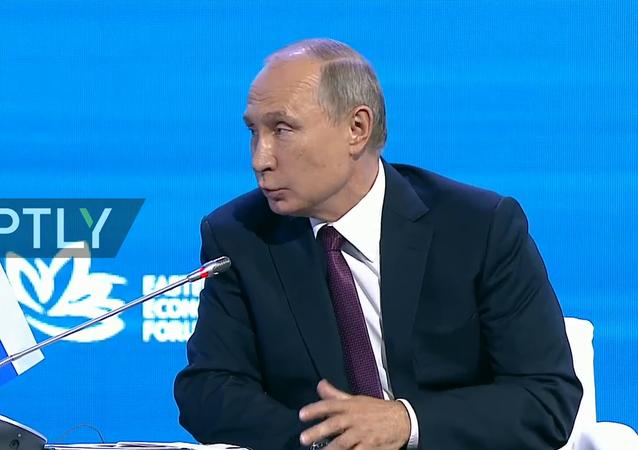 Putin na Východním ekonomickém fóru