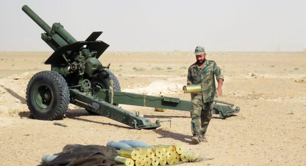 Syrský voják v okolí Dajr az-Zaur
