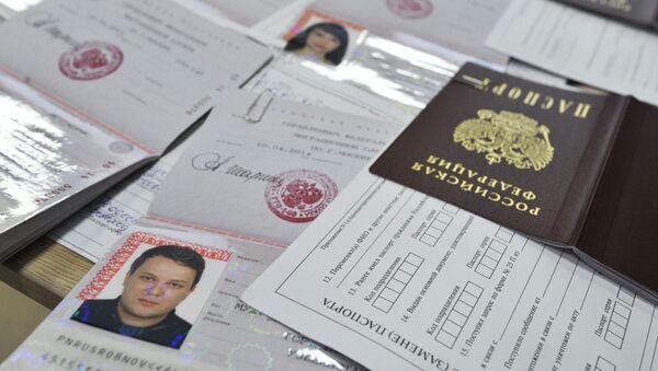 Pasy nových občanů RF žijících na Krymu - Sputnik Česká republika