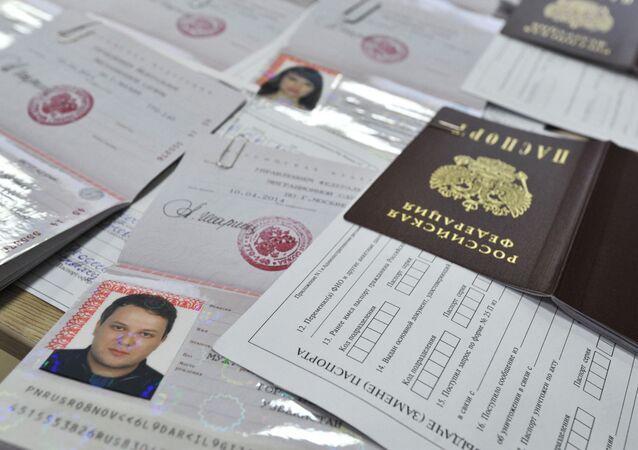 Pasy nových občanů RF žijících na Krymu