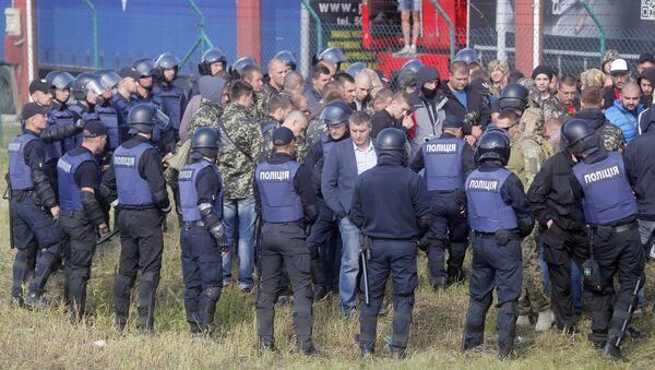 Protesty proti Michailu Saakašvilimu na ukrajinsko-polské hranici - Sputnik Česká republika