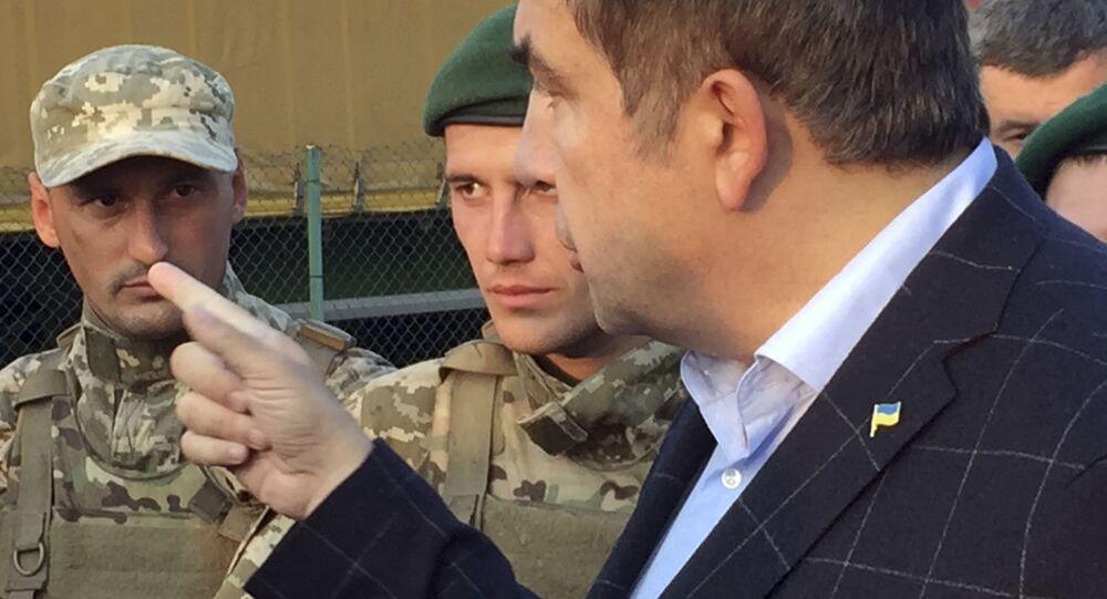 Michail Saakašvili a ukrajinští pohraničníci