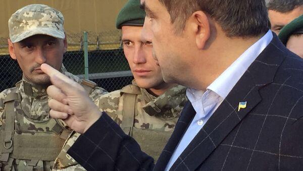 Michail Saakašvili a ukrajinští pohraničníci - Sputnik Česká republika