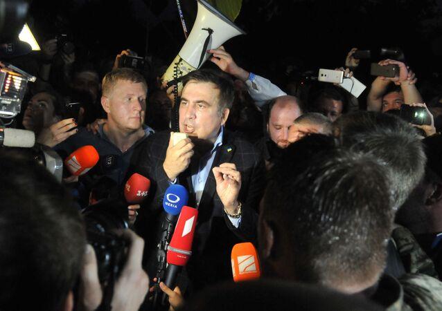 Michail Saakašvili na ukrajinsko-polské hranici