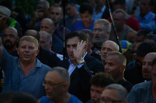 Michail Saakašvili prorazil ukrajinskou hranici - Sputnik Česká republika