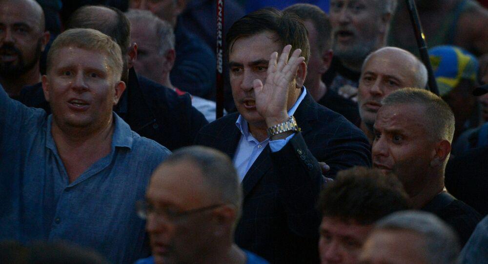 Michail Saakašvili s příznivci