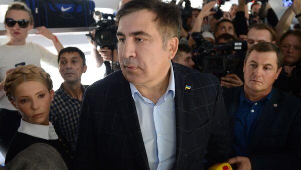Gruzínský exprezident a bývalý gubernátor Oděské oblasti Michail Saakašvili - Sputnik Česká republika