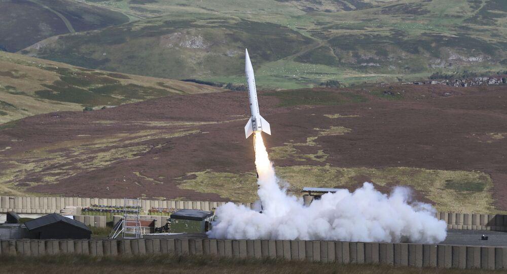 Start rakety Skyholt 2