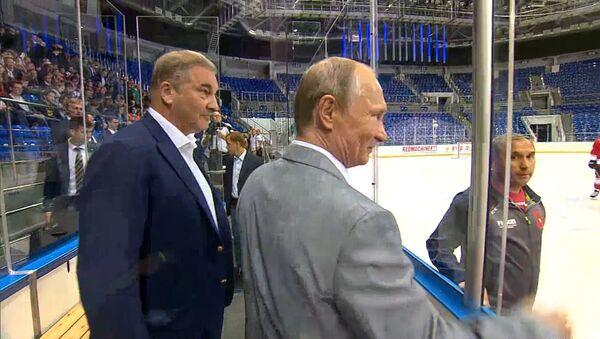 Putin shlédl dětský hokej ve společnosti účastníků supersérie 72 - Sputnik Česká republika