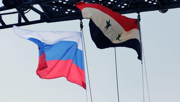 Vlajky Ruska a Sýrii - Sputnik Česká republika