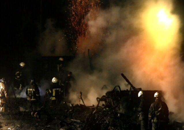 Požár v Oděse