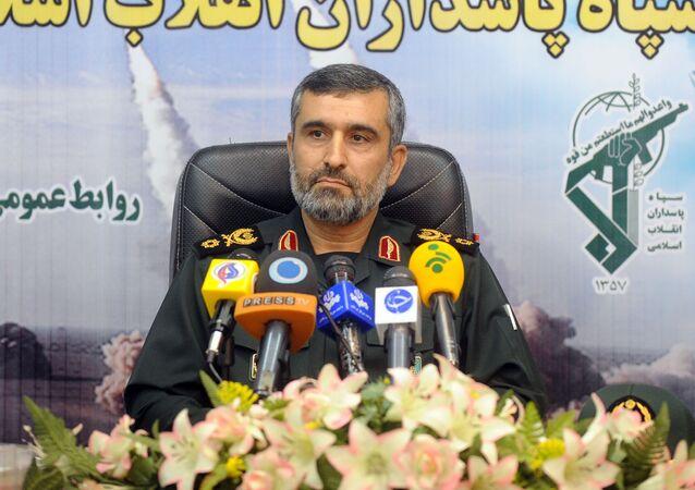 Velitel letectva Íránských revolučních gard Amir Ali Hajizadeh