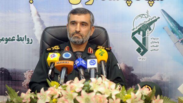 Velitel íránských vzdušných a kosmických sil Íránských revolučních gard Amir Ali Hajizadeh. - Sputnik Česká republika
