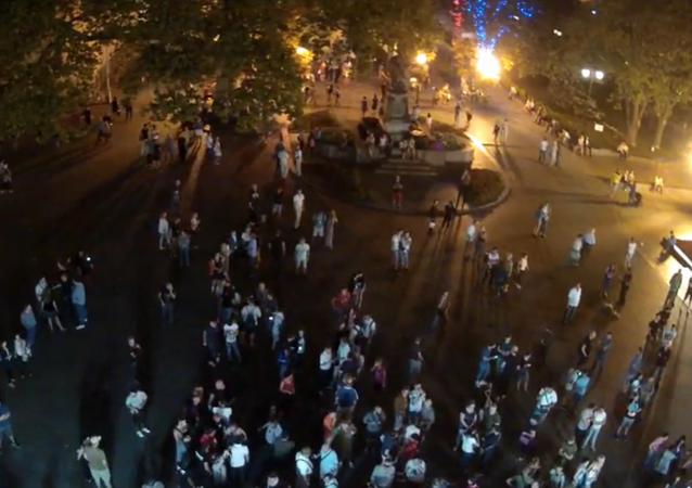 Mítink na Dumském náměstí v Oděse