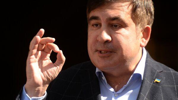 Bývalý gruzínský prezident a bývalý gubernátor Oděské oblasti Michail Saakašvili - Sputnik Česká republika