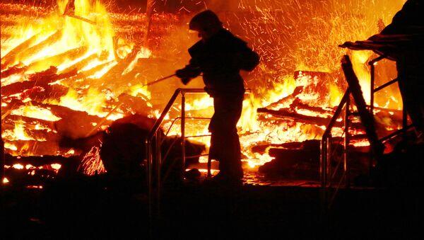 Požár táboru v Oděse - Sputnik Česká republika