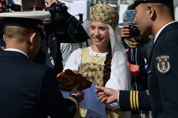 Připlutí bojových lodí čínského námořnictva do Vladivostoku - Sputnik Česká republika