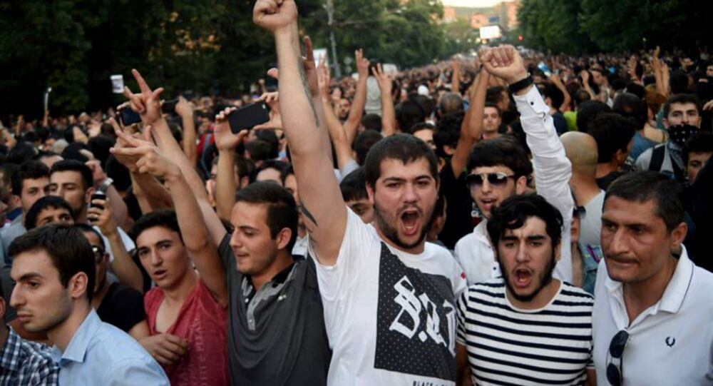 Protesty v Jerevanu