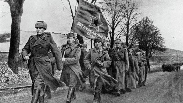 Sovětští vojáci, únor 1945 - Sputnik Česká republika