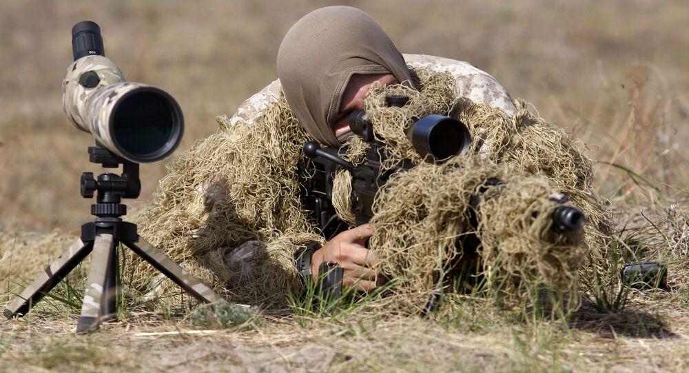Ukrajinský odstřelovač. Ilustrační foto
