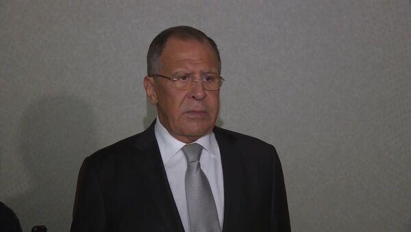 Komentář Lavrova o schůzce s Tillersonem během Valného shromáždění OSN Video - Sputnik Česká republika