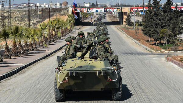 Ruští vojáci v Sýrii - Sputnik Česká republika