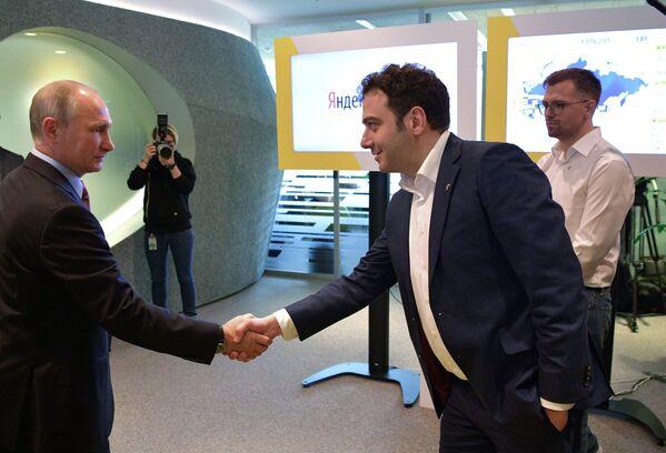 Putin v Yandexu - Sputnik Česká republika