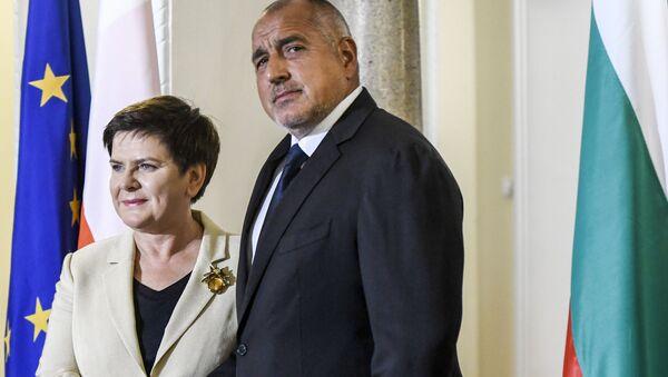 Setkání polské premiérky Beaty Szydłové a bulharského předsedy vlády Bojko Borisova - Sputnik Česká republika