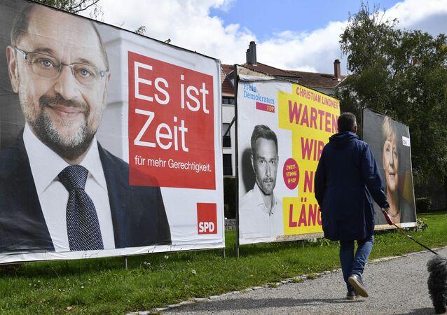 Billboardy s kandidáty v Německu