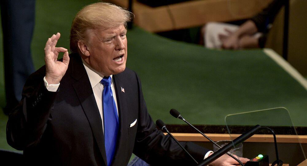 Americký prezident Donald Trump vystupuje na zasedání Valného shromáždění OSN v New Yorku