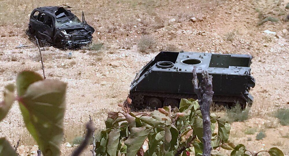 Poškozená technika fronty an-Nusrá