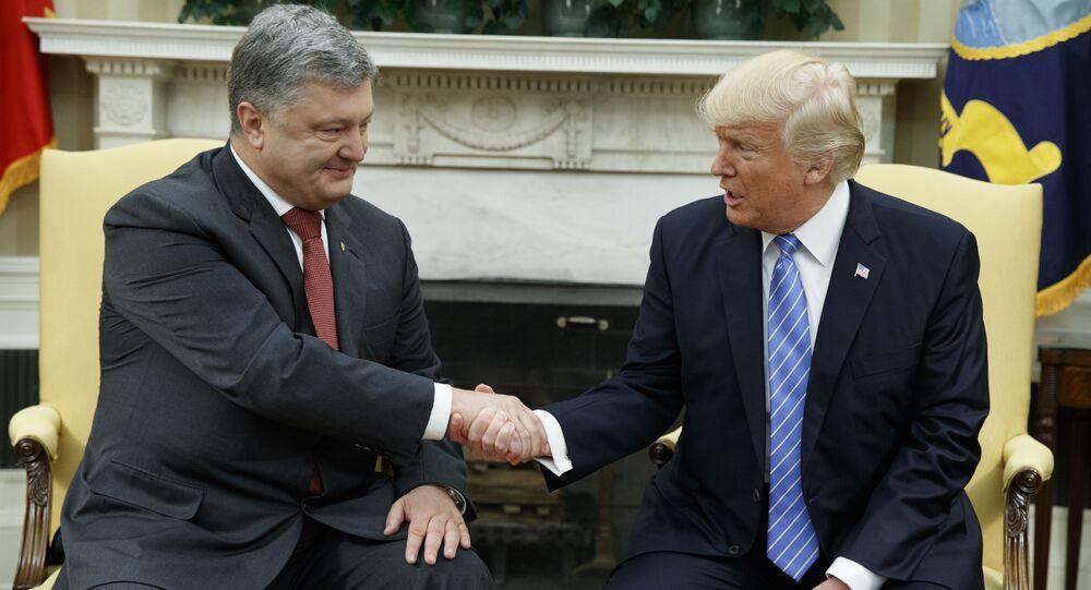 Petro Porošenko a Donald Trump