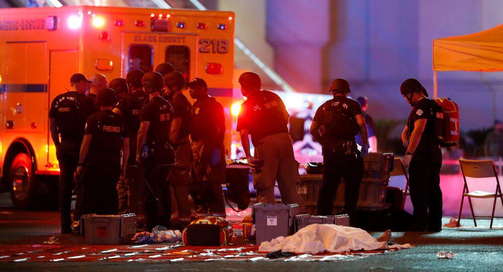 Místo střelby v Las Vegas