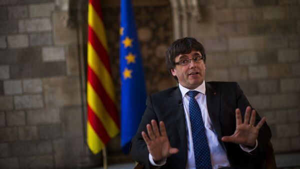 Premiér Katalánska Carles Puigdemont - Sputnik Česká republika