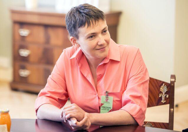 Poslankyně ukrajinské Nejvyšší rady Naděžda Savčenková. Ilustrační foto