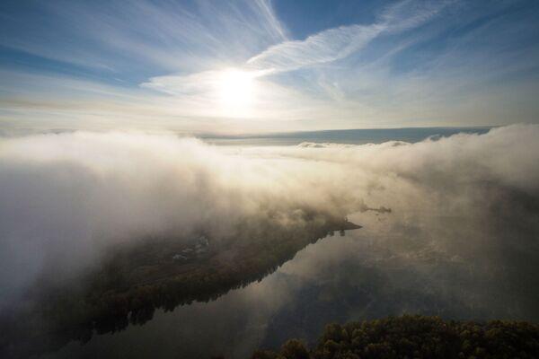 Hustá mlha v Novosibirsku - Sputnik Česká republika