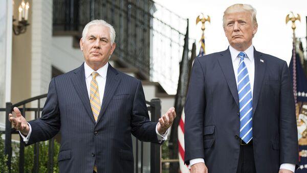 Rex Tillserson a Donald Trump - Sputnik Česká republika