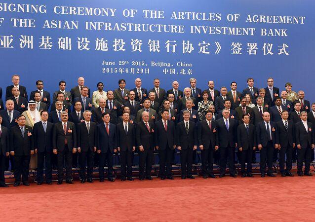 Delegace na společném fotografování