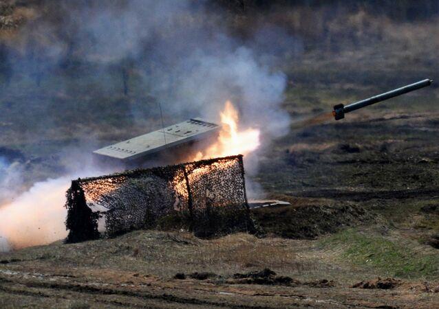 Raketomet TOS-1 Buratino. Ilustrační foto