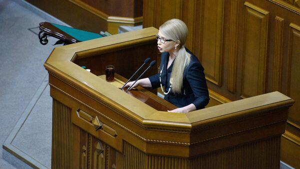 Ukrajinská poslankyně Julie Tymošenková - Sputnik Česká republika