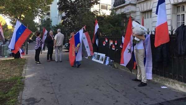 Akce na podporu akcí Ruska v Sýrii - Sputnik Česká republika