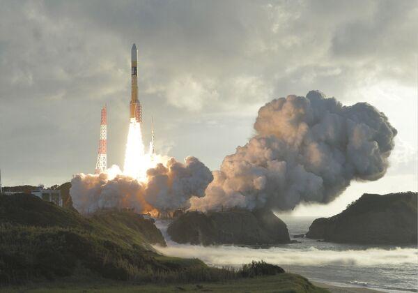 Vypuštění japonské rakety H-2A se satelitem Michibiki-2 z kosmodromu Tanegašima - Sputnik Česká republika