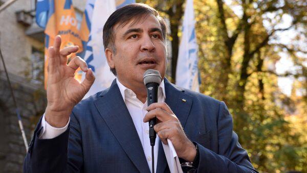 Bývalý gruzínský prezident Michail Saakašvili - Sputnik Česká republika