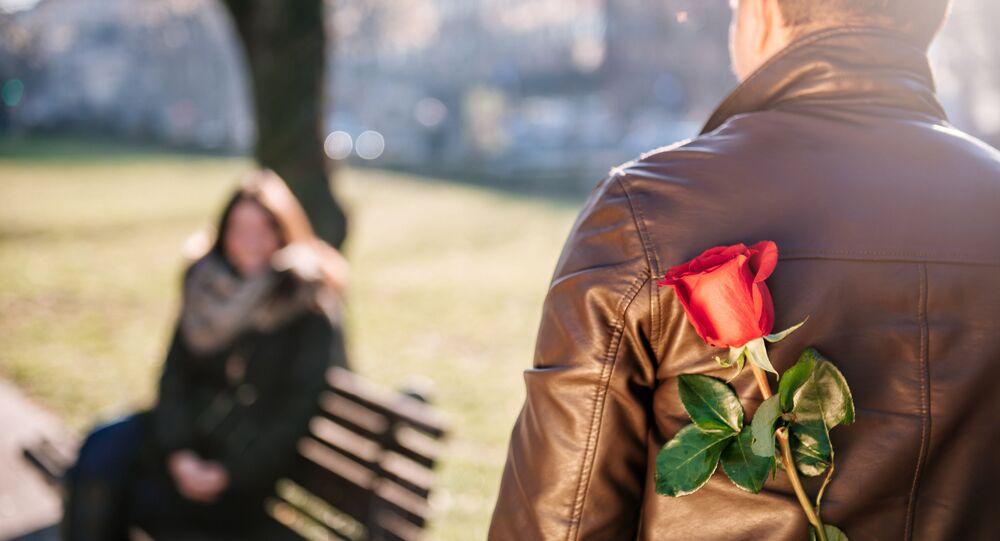 Muž s růží. Ilustrační foto