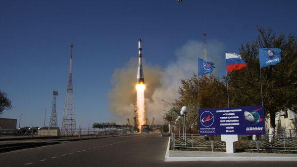 Start nosné rakety Sojuz 2.1a s nákladní vesmírnou lodí Progress MS-07 - Sputnik Česká republika