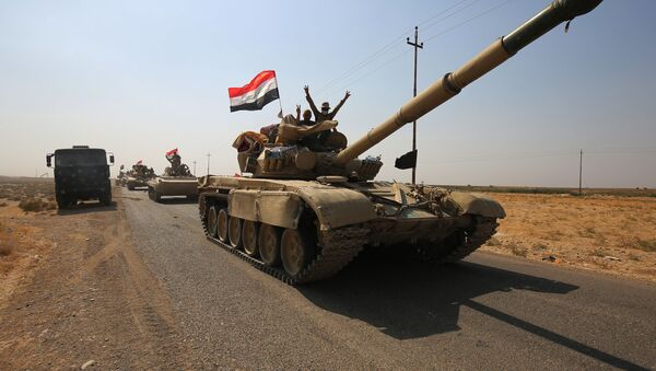 Irácká armáda v okolí Kirkúku - Sputnik Česká republika